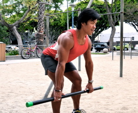 Bent-over row demonstration