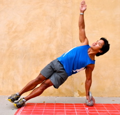 Basic side plank, in straight-arm